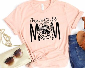 Mastiff Mom Tee Shirt english