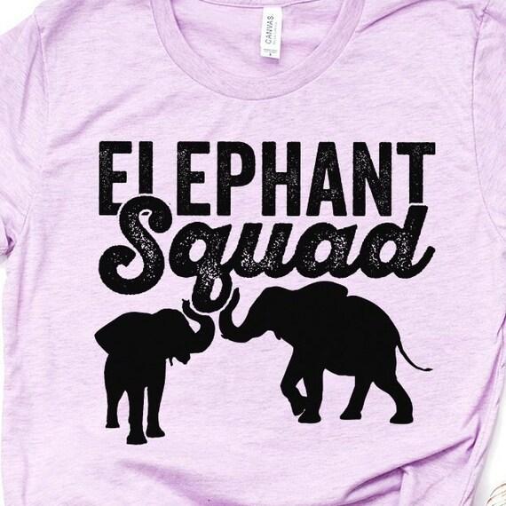 Elephant Lovers Squad Shirts Elephant Squad Elephant Print Elephant Shirt Zoo Animals Elephant Top Long Sleeve T-Shirt Hoodies