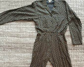 4c0cb2e30391 Vintage 1980 s Paisley Rayon Jumpsuit by Taurus II-Size S