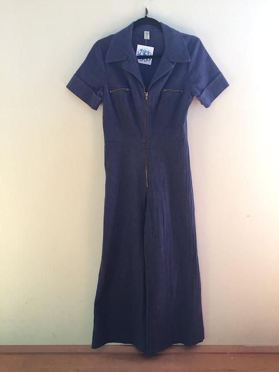 Blue 70's Jumpsuit - image 1