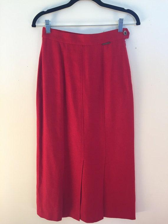 Geiger Red Linen Skirt