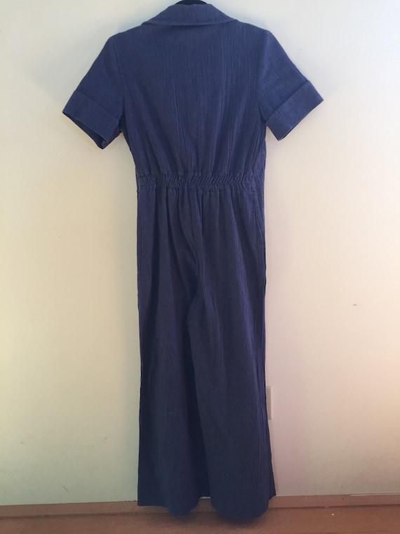 Blue 70's Jumpsuit - image 3