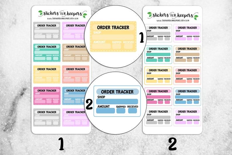 995aaf73aad30 Order Tracker Stickers, Functional Stickers, Tracker Stickers, Order  Stickers, Etsy Stickers, Planner Stickers, Bullet Journal Stickers