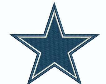 image about Dallas Cowboys Star Stencil Printable named Dallas cowboys emblem Etsy