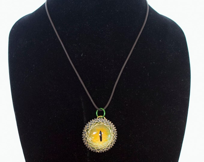 Hand painted Dragon Eye Necklace