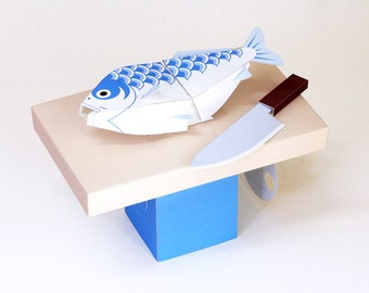 Moving Paper Craft — Doomed, automata, Printable PDF, Instant download, DIY