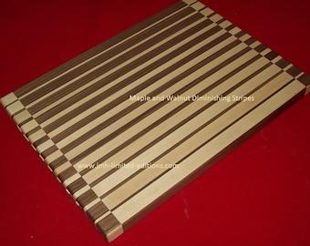 Cutting Board - Diminishing Stripes - Hardwoods - Custom by JMH Limited Editions