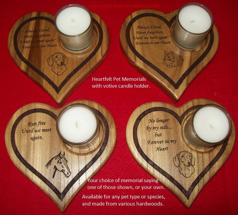 Pet Memorial Candle Holder  Custom by JMH Limited Editions image 0