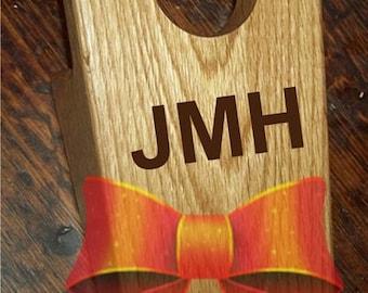 Oak Bootjack (Laser Engraved) - Solid Hardwood Boot Jack / Shoe Remover - Custom by JMH Limited Editions