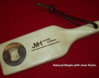 Bottle Opener - Hardwood Beer Bottle Shaped - Custom by JMH Limited Editions