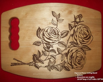 Cutting Board - Laser-Engraved Design - Custom by JMH Limited Editions