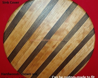 Butcher Block RV Sink Cover - Cutting Board - Any Size or Shape RV Camper Sink - Custom by JMH Limited Editions