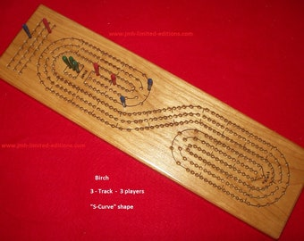 Cribbage Board - Wood - Custom by JMH Limited Editions