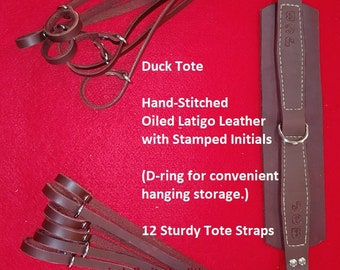 Duck Hunting Straps Tote Lanyard Harness Noose Straps - Oiled Latigo Leather - Custom by JMH Limited Editions