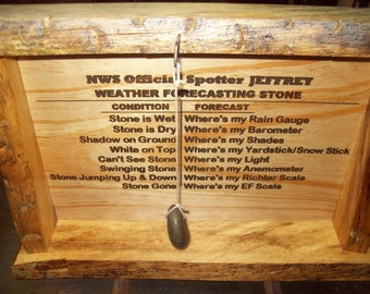 Weather Forecasting Stone - Large Indoor/Outdoor Decor - Custom by JMH Limited Editions