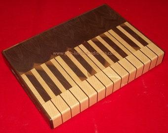 Cutting Board - Piano Keyboard - Custom by JMH Limited Editions