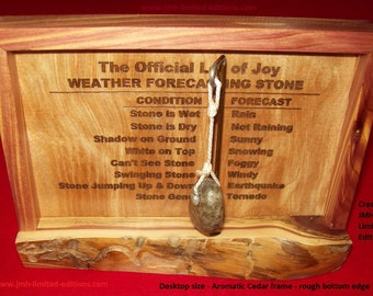 Weather Forecasting Stone -  Fun Desk Top Decor - Custom by JMH Limited Editions
