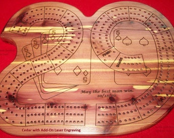 """Cribbage  """"29""""  Board - Wood - Custom by JMH Limited Editions"""