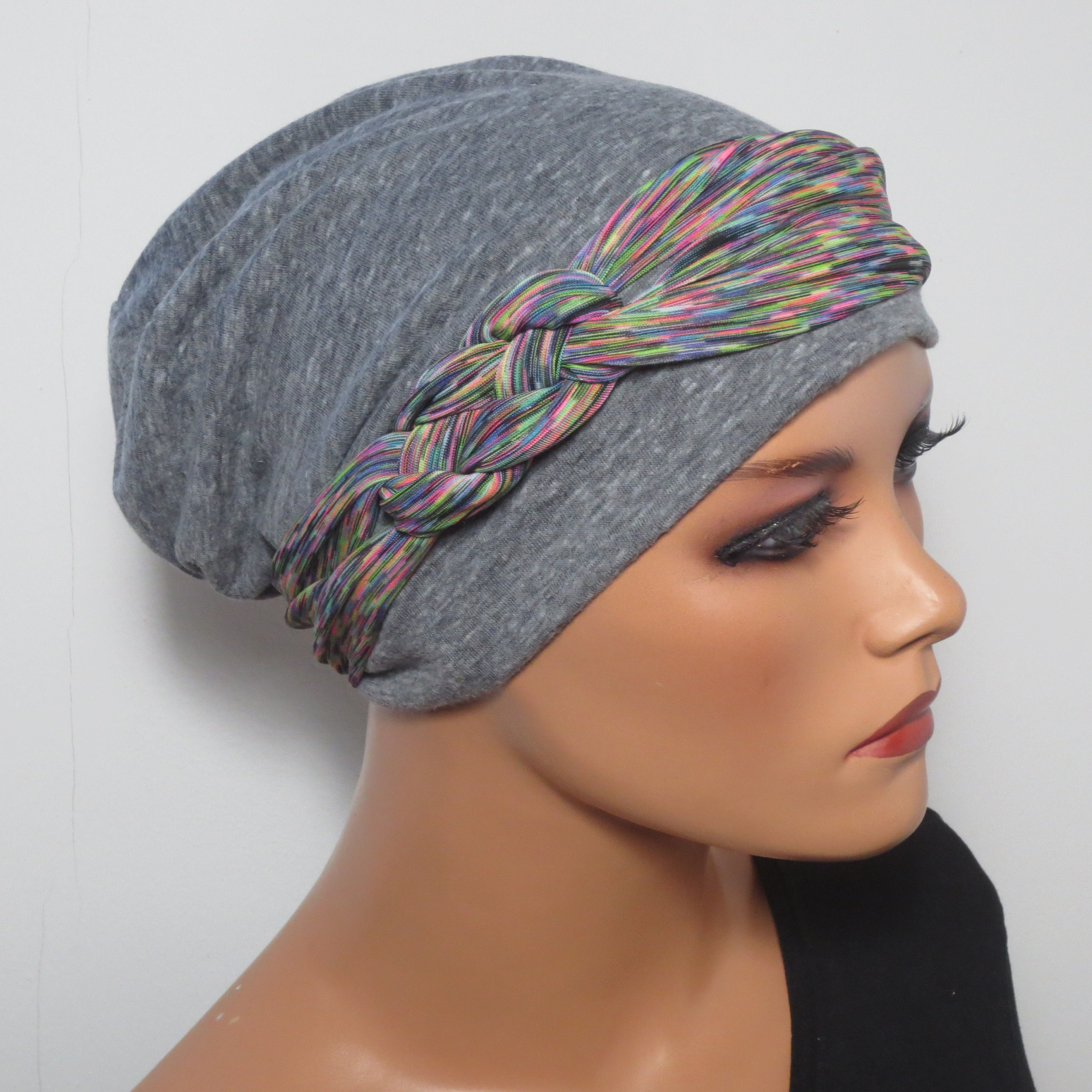 Cool Beanie Band Light Airy Grey Colored Etsy