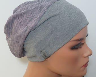 Cool Balloon cap/cap volume charm lilac light grey heather fashionable practically comfortable turban Chemomütze chemo cancer headgear