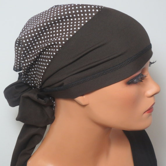 Kopftuchmütze//Chemomütze grau Chemo Turban Chemokopftuch Kopf /& Kragen Design