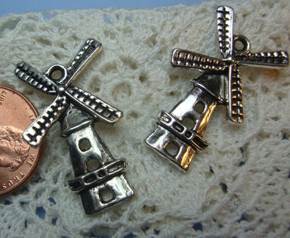 20pcs retro style Cute windmill alloy charm pendants 27 x 16mm