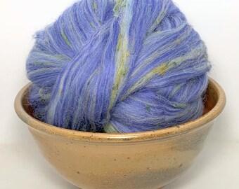 blend  Tea Cup Blue Tweed Wool Roving