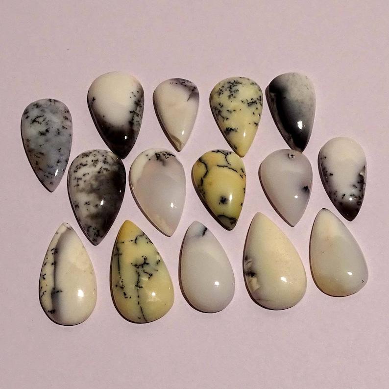 G2865 279.65 Cts For Jewelry Gemstone 15 Pcs Natural Dendrite Opal Gemstone,Jewelry Making Genuine Handmade Gemstone