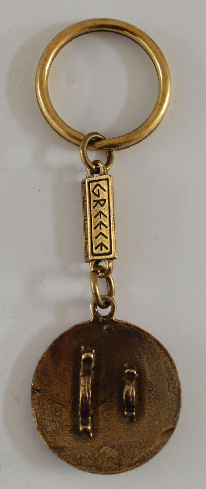 Keyring Alexander the Great Sun of Vergina Ancient  Greek Zamac Miniature