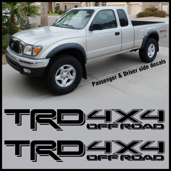 Trd off road decal sticker 4x4 California Edition Tundra Tacoma Toyota Sport
