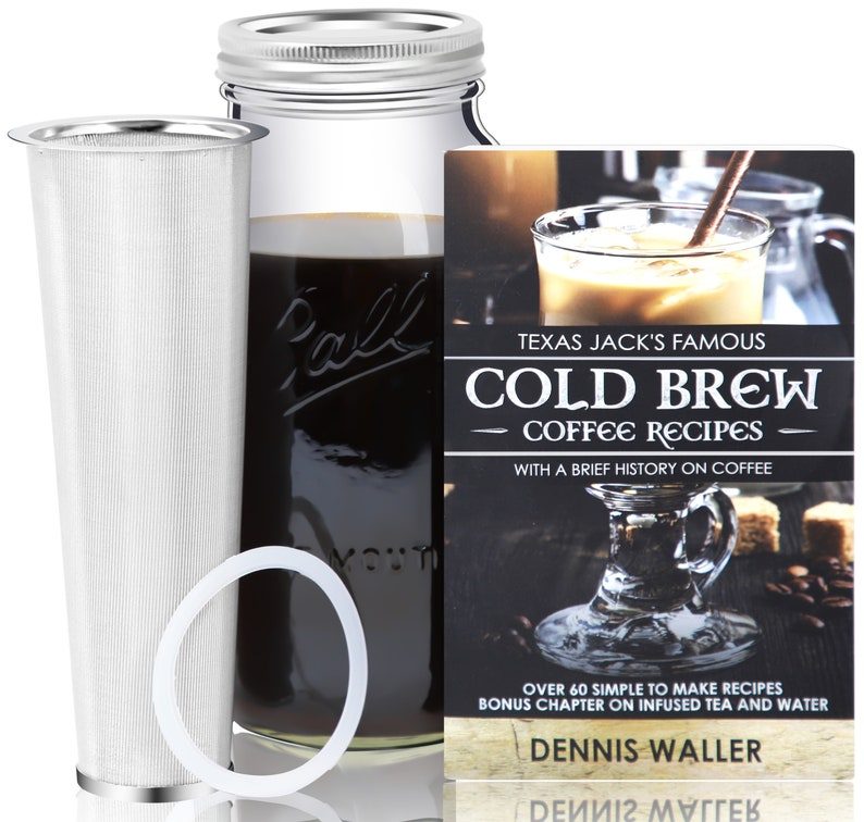 The COLD BREW INFUSER  2 Quart  Cold Brew Ball Mason Jar image 0