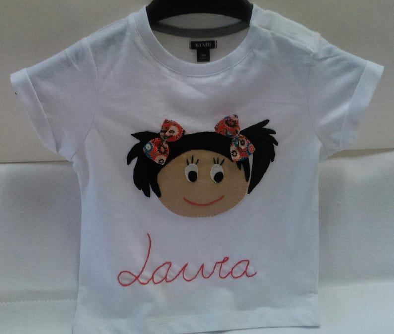 a252c1305e886 Camiseta niña patchwork camiseta personalizada niña regalo