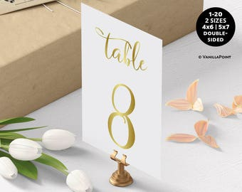 Wedding Table Numbers | Etsy