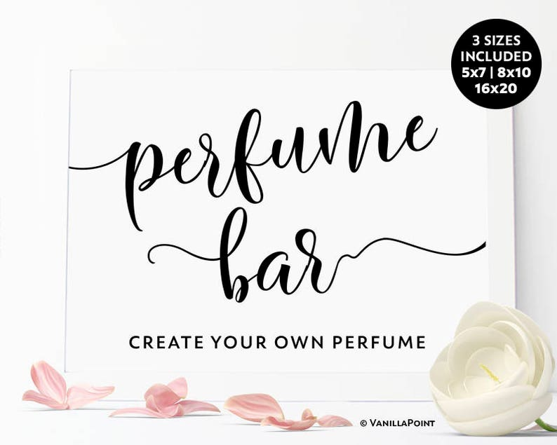 c2ca8428024 Create Your Own Perfume Bar Sign Paris Theme Party Favors