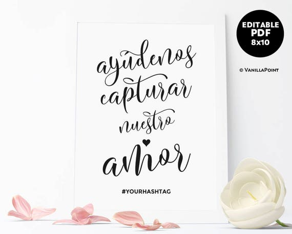 photo regarding Printable Spanish.com named Wedding ceremony Hashtag Indication Printable Spanish Wedding ceremony Indications Spanish Wedding day Reception Indicators Spanish Social Media Indication Marriage Template Obtain PDF