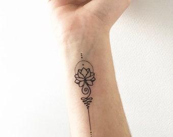 Unalome Fancy - Temporary Tattoo