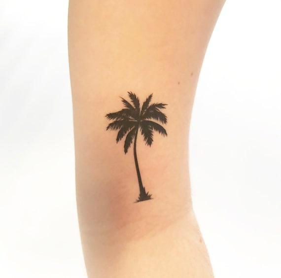Palm Tree Temporary Tattoo Etsy