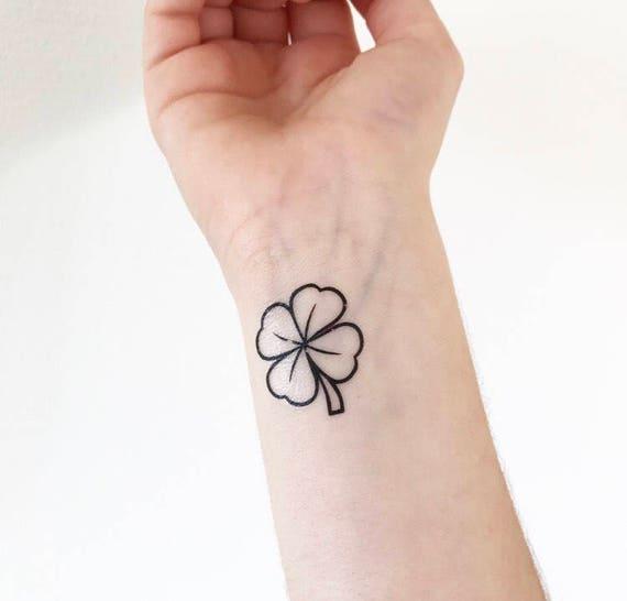 Trebol Tatuaje trébol tatuaje temporal | etsy
