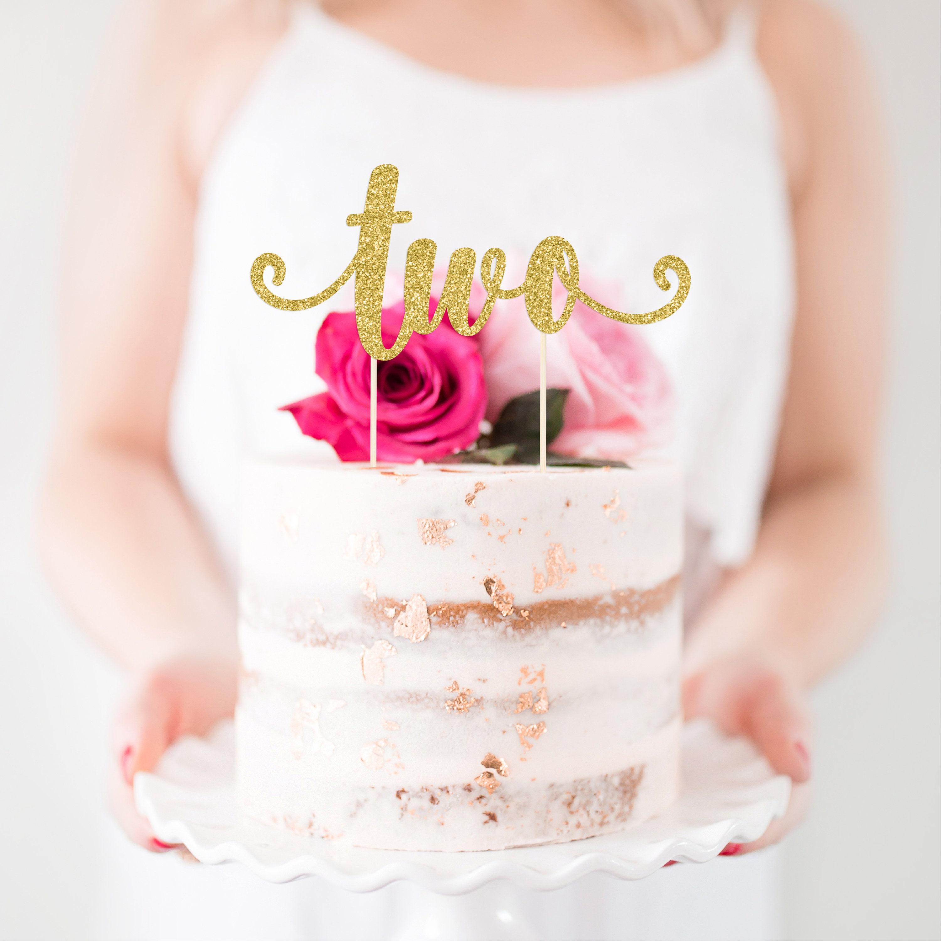 Two Cake Topper Two Smash Cake Topper Second Birthday Cake