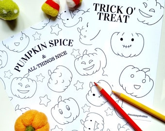 A5 Halloween Colouring Postcards - 4 pack