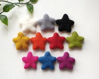 Custom Star Pom Pom Paperclips - Felt Ball Stationary Bookmarks