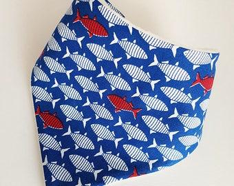 Fish Dribble Bib, Baby Dribble Bib, Drool Bib, Bandana Bib, Toddler Dribble Bib, Baby Shower Gift
