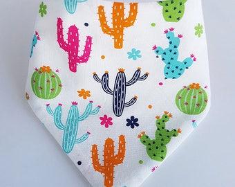 Cacti Dribble Bib, Baby Dribble Bib, Drool Bib, Bandana Bib, Toddler Dribble Bib, Baby Shower Gift