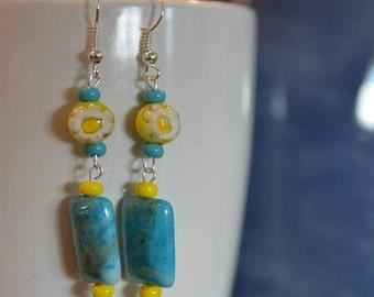 5th pair of Lorraine's Earrings in the Summer Series