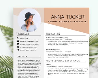 Modern Resume Template / CV Template | Professional and Creative Resume | Word Resume | Instant Download | Docx