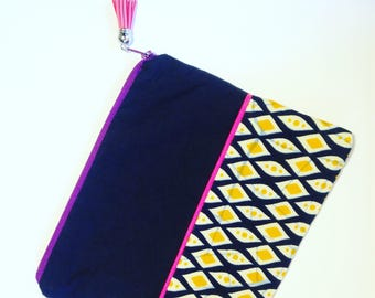 Pouch case bag fabric wax original gift idea 20 x 16 grawoulwax