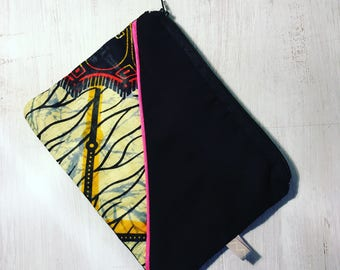 Pouch case bag fabric wax original gift idea 21 x 16 grawoulwax miwax