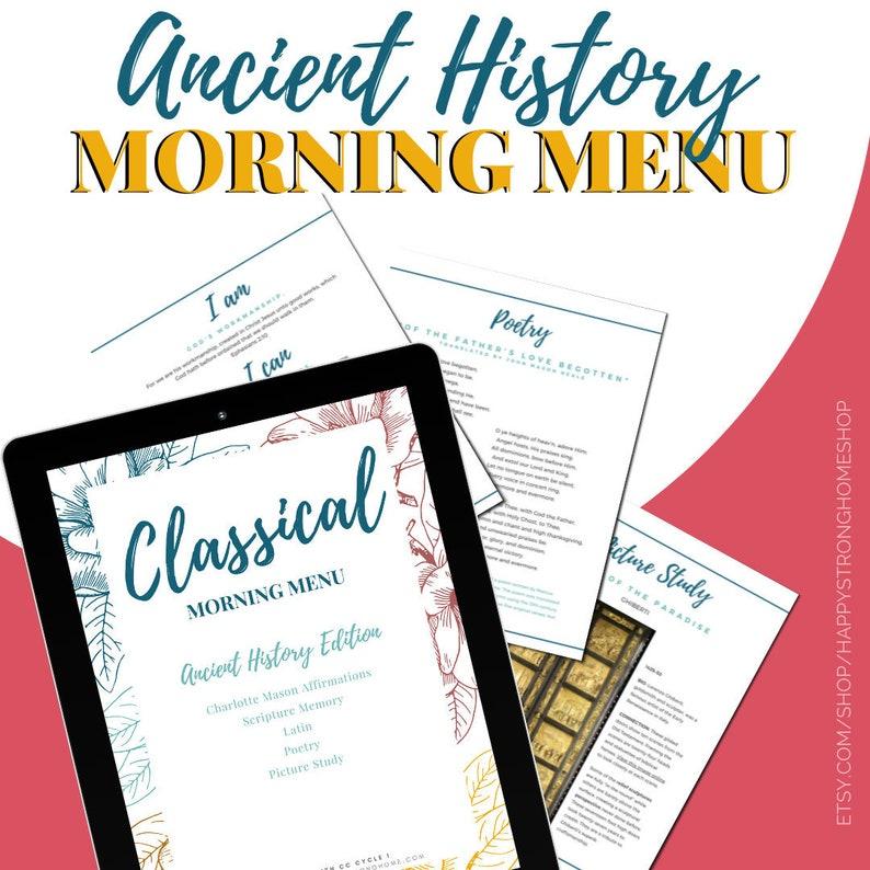 Ancient History Classical Morning Menu  CC Cycle 1  FULL image 0