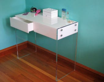 New Acrylic  Lucite Vanity Table