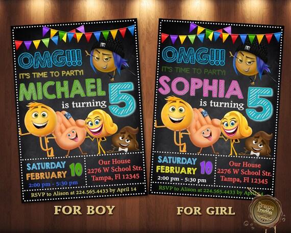 Emoji InvitationEmoji Birthday PartyEmoji